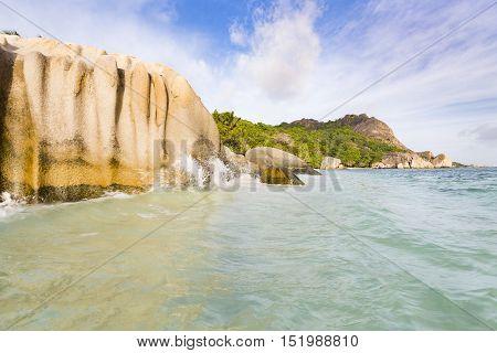 Granite Rocks, La Digue, Seychelles