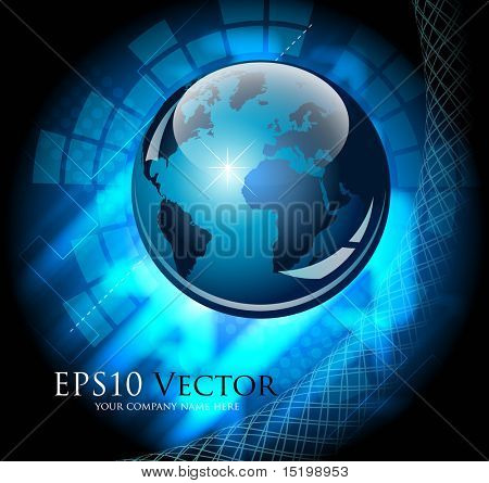 Blue abstract business composition - vector illustration