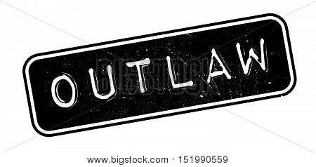 Outlaw Rubber Stamp