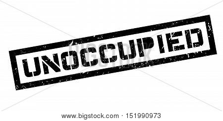 Unoccupied Rubber Stamp