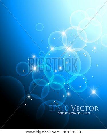 Resumen fondo azul - ilustración vectorial