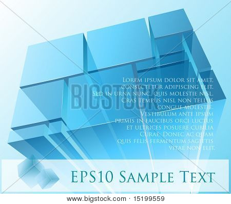 Abstract transparent modules - vector illustration