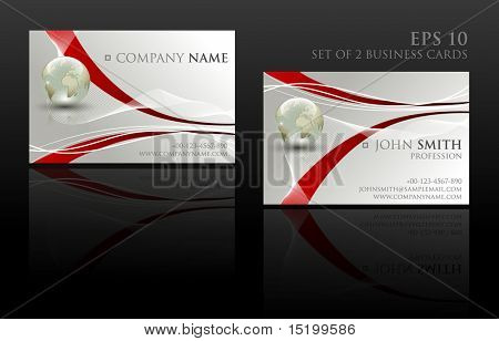 Set of two business cards - vector illustration