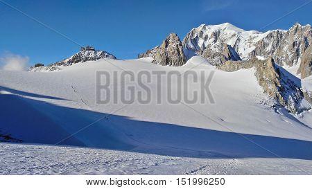Mt. Blanc Summit From The Glacier