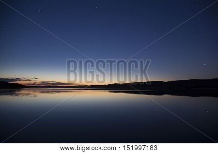 Lake Twilight Night Photo