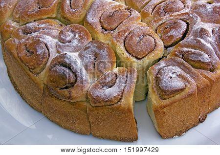 cinnamon rolls, a typical austrian cake specialty