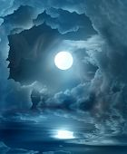stock photo of full_moon  - magic moon - JPG