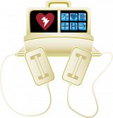 stock photo of defibrillator  - Defibrillator - JPG