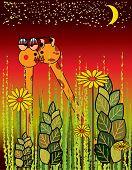 Постер, плакат: Жирафы в любви