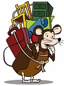 stock photo of pack-rat  - Pack Rat - JPG