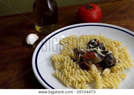 Fusilli And Eggplant