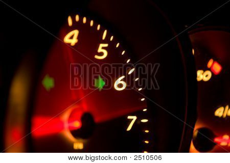 Glowing Tachometer