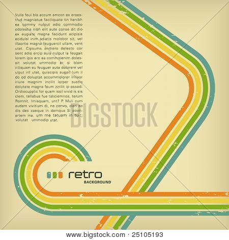 retro background with copyspace for your text