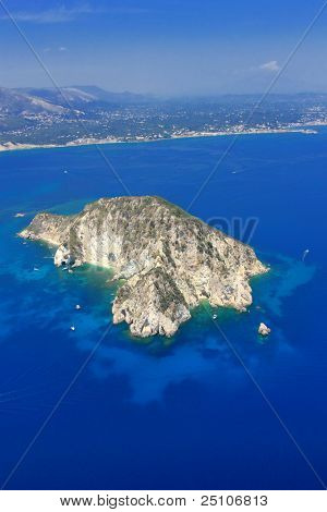 Luftbild auf Zakynthos Griechenland - Insel Marathonisi