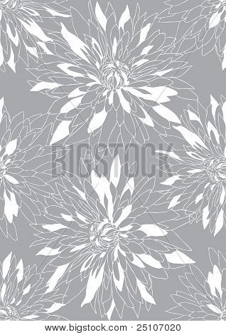 Gray Background With White Chrysanthemums
