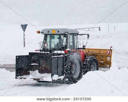 Snowplow Tractor