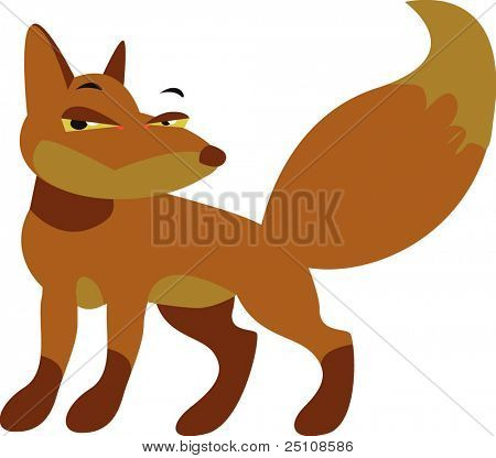 vector fox design: zoo series
