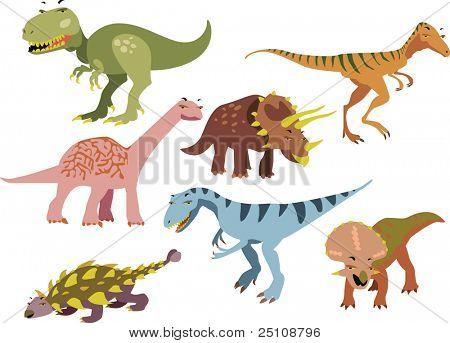 vector dinosaurs set 1