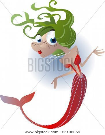 vector mermaid