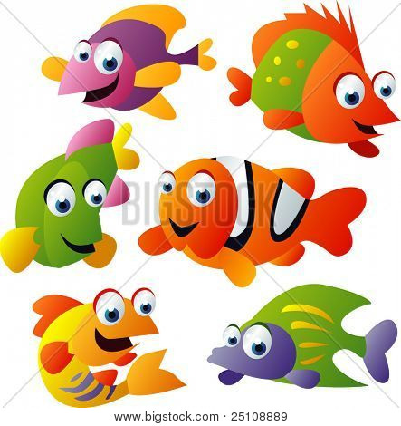 animal Vector set 25: pescado