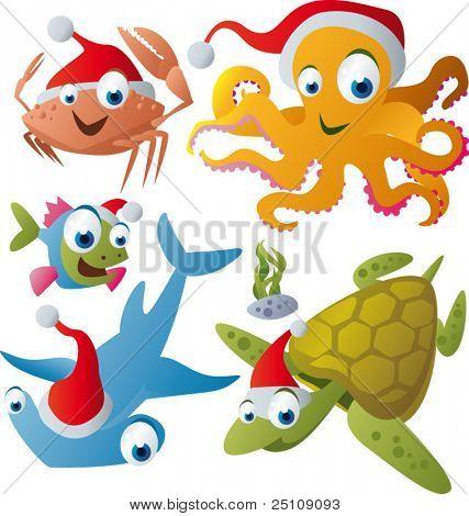vector christmas animals