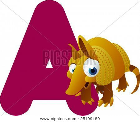vector alphabet: A is for armadillo