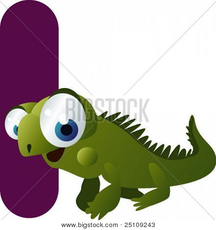 vector alphabet: I is for iguana