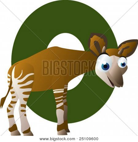 Newest ABC animals: O is for Okapi