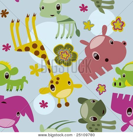 seamless animal safari pattern