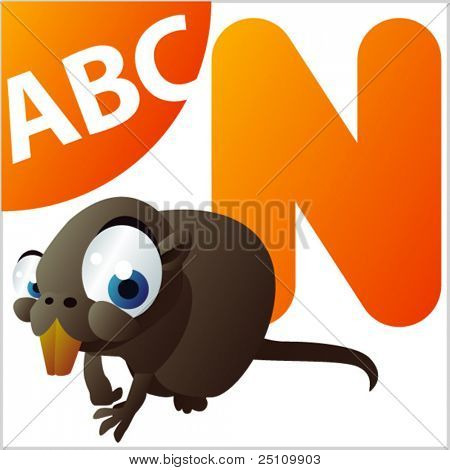 ABC animals: N is for Nutria