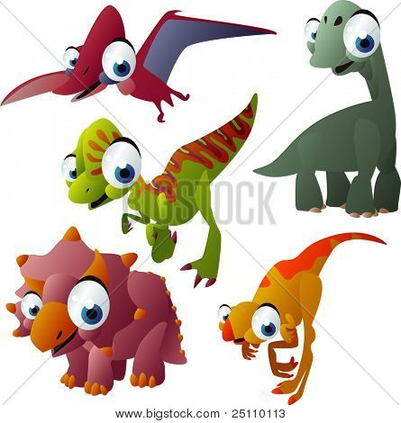 vector dinosaurs set