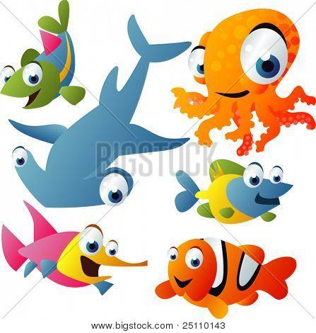 2010 sea life vector set
