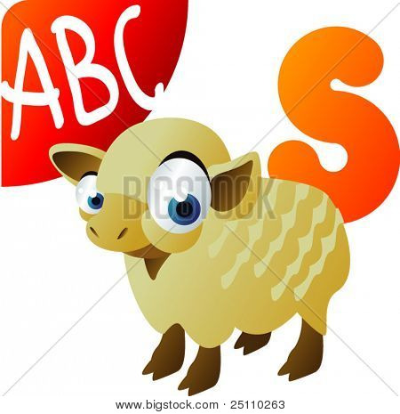 animal alphabet: S is for Sheep