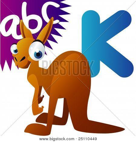 Animal alphabet: K is for Kangaroo