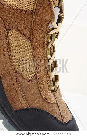 Detailansicht eines Wanderer-Schuhs