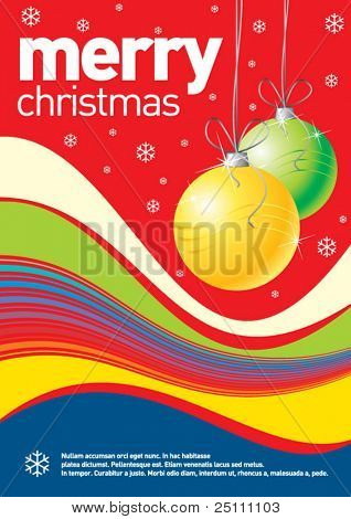 Christmas design can be used as a poster or an invitation card. Just place your own texts and titles.