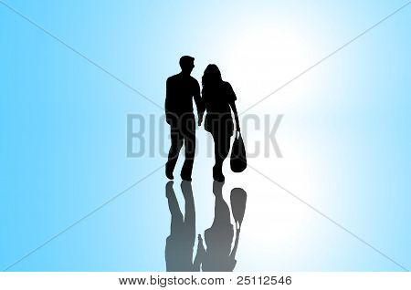 Relationship Journey Concept.