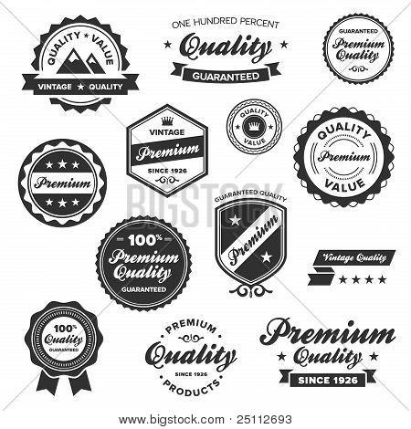 Vintage Premium Badges