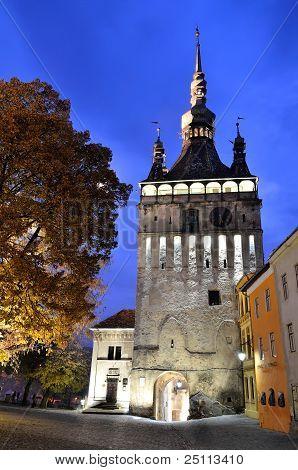 Sighisoara, Clock Tower, Saxon Landmark Of Transylvania