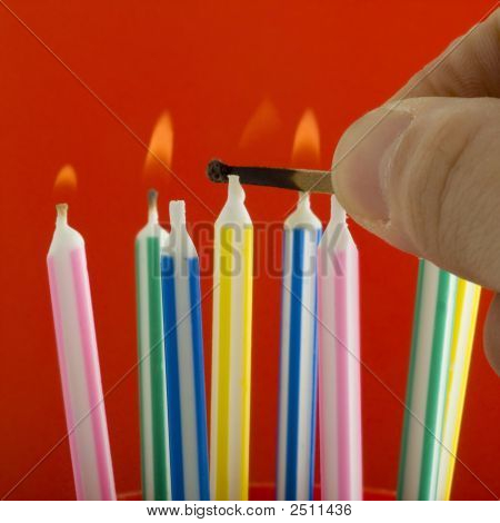 Lighting Birthday Candles