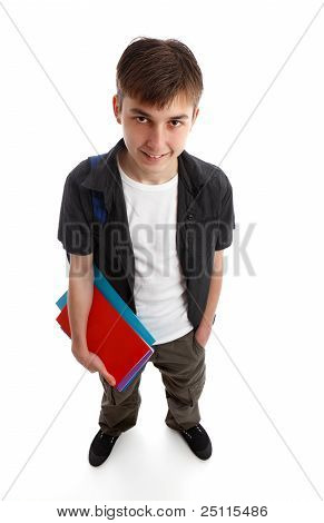 Student Holding Books