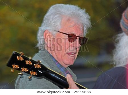 Graham Nash Performing with David Crosby at Liberty Park