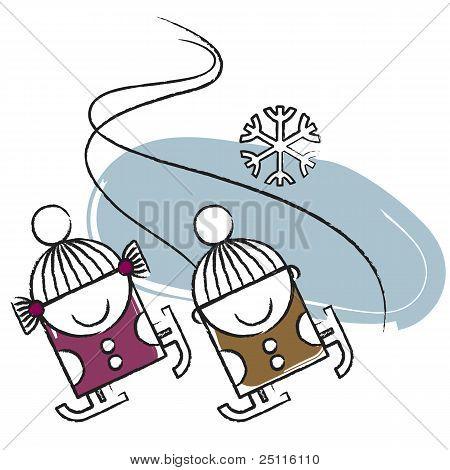 Ice skatin kids