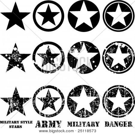 Army Star Vector Vectors Military Stars