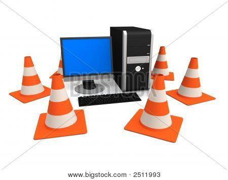 Pc And Traffic Cones