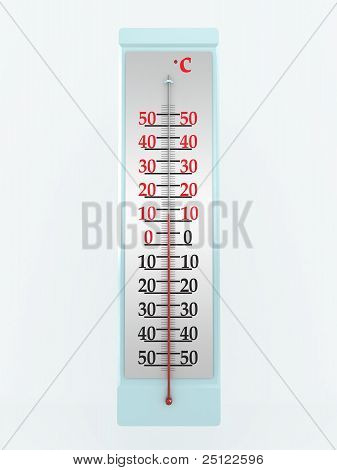 Thermometer Isolated On White Background. 3D Image