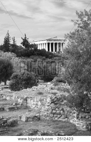 Athens, Greece -  Agora And Temple Of Hephaestus
