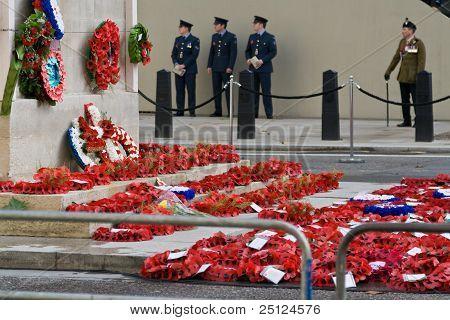 Mohn Berufung Veterans Day, Whitehal, London.