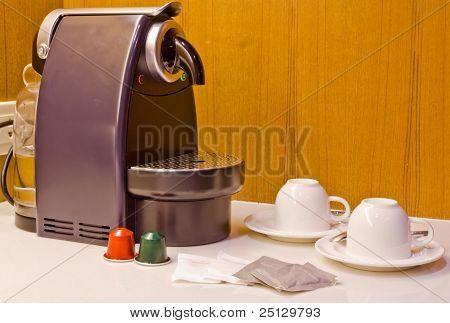 Coffee Machine And Cups Coffee