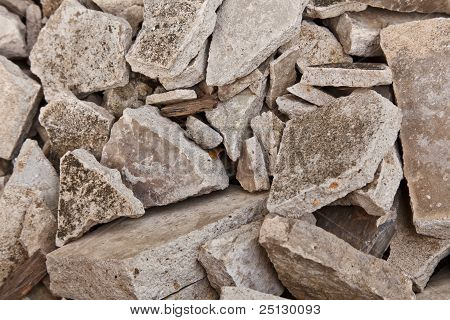 The Pile Of Broken Concrete